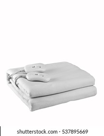 Double size electric blanket , b&w photo, clipping path.