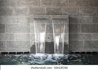 Double SPA waterfall with mineral water
