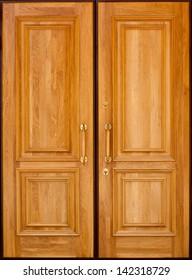 Double wooden door
