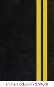 double yellow lines on vertical road