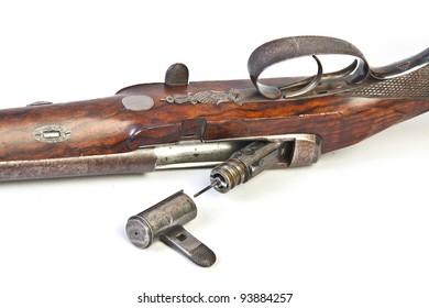 double-barrelled side by side hunting gun by Joseph Needham. England. XIX century.