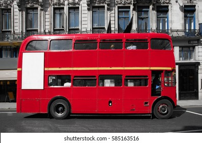 Double-decker bus in the city of London