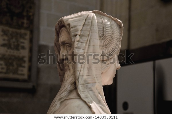 Doublefaced Statue Cathedral Nantes France Man Stock Photo Edit Now 1483358111