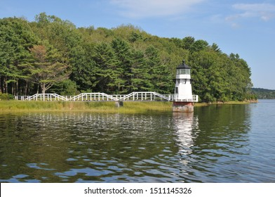 Doubling Point Lighthouse on the Kennebec River in Maine