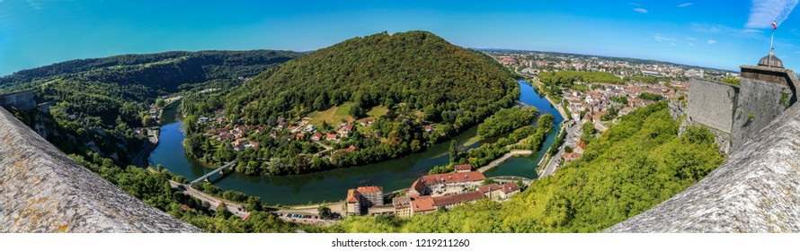 Doubs river from Besancon Citadelle