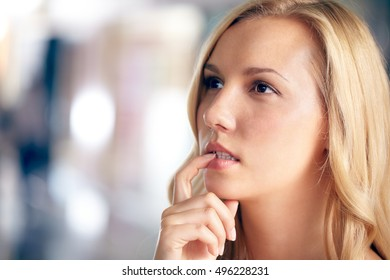 Doubting woman