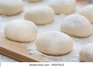 Dough balls made for cooking pastries