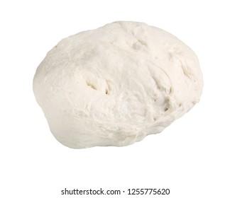 dough on white background