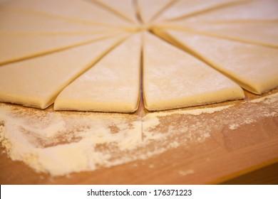 dough for the preparation of croissants