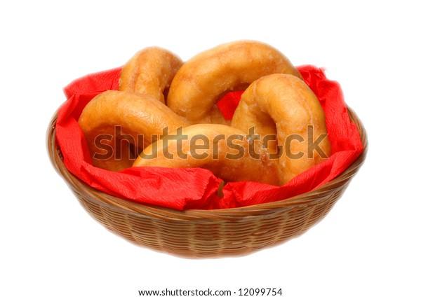 Doughnuts on white background