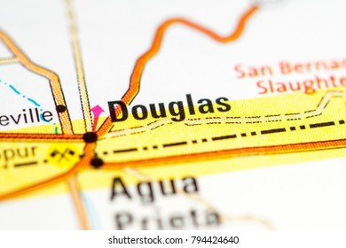 Douglas. Arizona. USA on a map