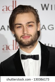 Douglas Booth at WilliamVintage - VIP private dinner held at St Pancras Renaissance Hotel, London, England. 08/02/2013 Picture by: Henry Harris