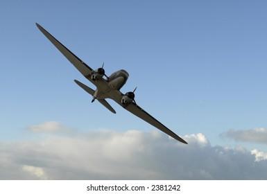 Douglas C-47 Dakota from underneath