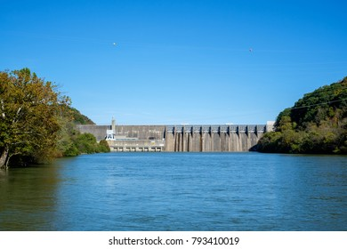 Douglas Dam on the French Broad River in Sevier County, Tennessee.