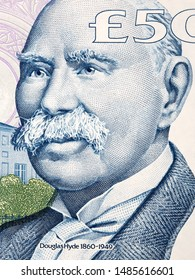 Douglas Hyde a portrait from Irish money