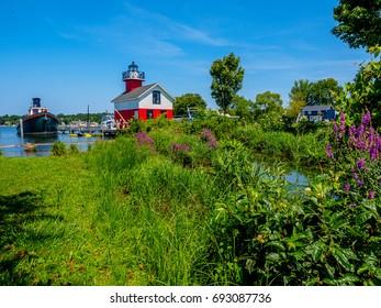 The Douglas Lighthouse on the Kalamazoo River