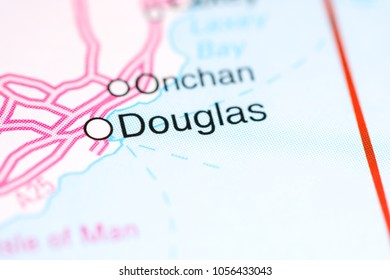 Douglas. United Kingdom on a map