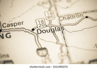Douglas. USA on a map.