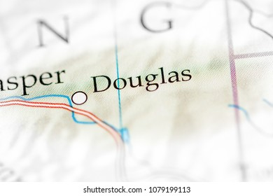 Douglas, USA on a map.