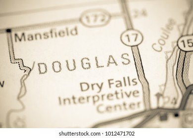 Douglas. Washington State on a map.
