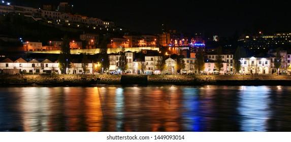 Douro River near Ribeira in Oporto, Portugal