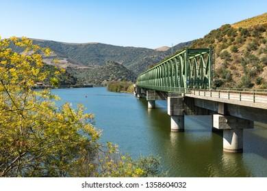 Douro valley view near the Ferradosa bridge at Sao Xisto Located in Vale de Figueira, Sao Joao da Pesqueira Municipality, the village is dominated by a breathtaking landscape.
