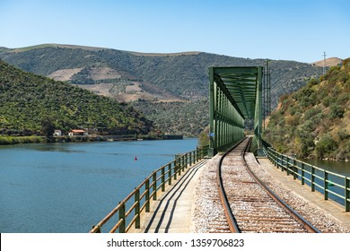 Douro valley view near the Ferradosa bridge at Sao Xisto Located in Vale de Figueira, Sao Joao da Pesqueira Municipality, the village is dominated by a breathtaking landscape.