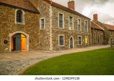 Dover Castle court houses.