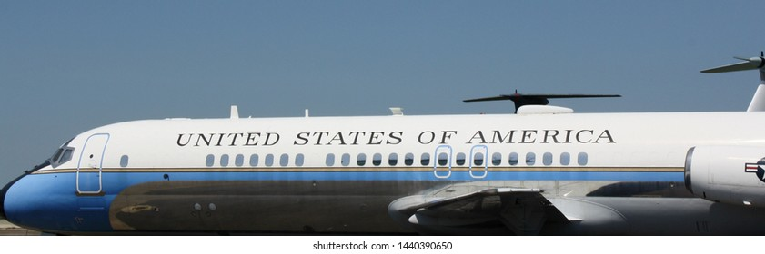 Dover, Delaware, United States - July 2, 2019: Landscape of Air Force Two