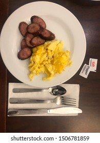 Dover, New Jersey USA - September 16th 2019: typically breakfast in a hotel in Dover, New Jersey USA, not far away from New York City.