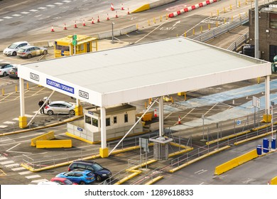 Dover, United Kingdom, 18th January 2019:- A view of the Port of Dover's UK customs post.