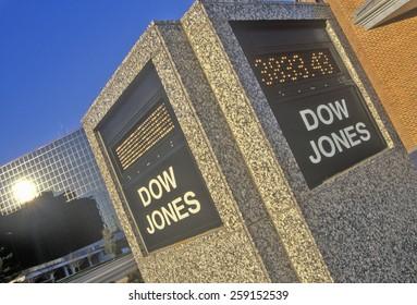 Dow Jones Stock Market marker, St. Louis, Missouri