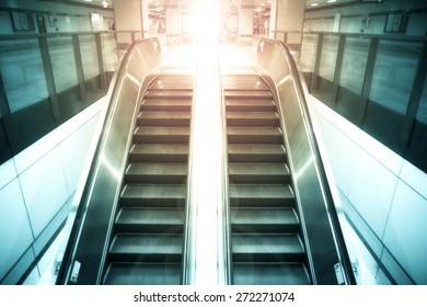 Up and down escalators