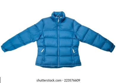 Down jacket isolated on white background.