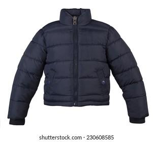 Down jacket isolated on white background.