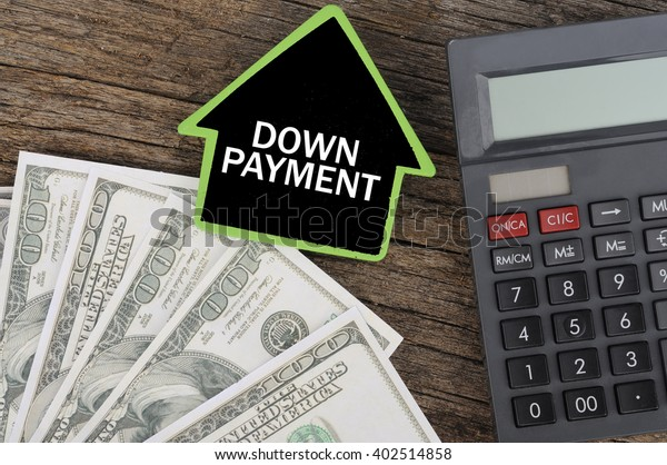 Down Payment Calculator >> Down Payment Word On House Calculator Stock Photo Edit Now