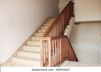 up and down stairway made of wood style