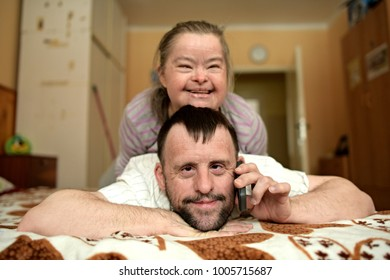 down syndrome love couple.
