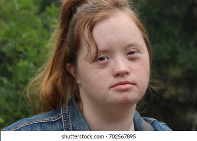Down syndrome Young Adult Outside