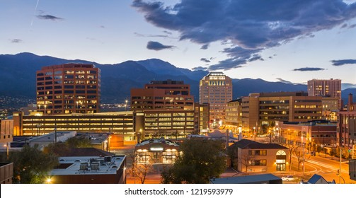 Down Town Colorado Springs at Dusk