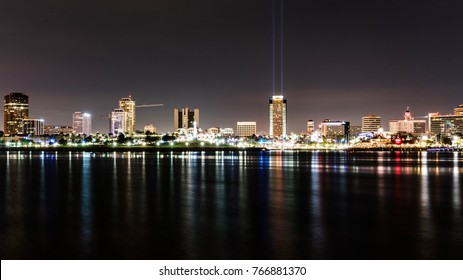 Down Town Long Beach at Night