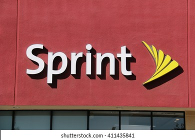Downey, California, USA - December 1, 2015: Sprint, an American telecommunications holding company, is a major global internet carrier and the fourth largest wireless operator in the United States.