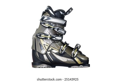 a downhill boot under the light background
