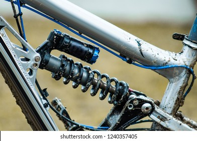 Downhill mountain bike rear suspension