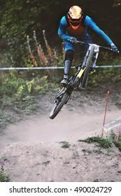 Downhill mountain bike sport race
