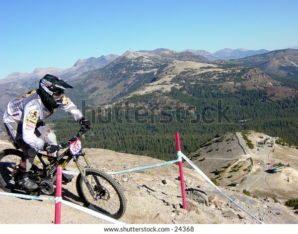 Downhill, mountain biking, extreme, sports, cycling, riding, bike, athlete, race, athletic, Mammoth