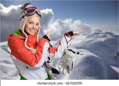 Downhill Skiing.