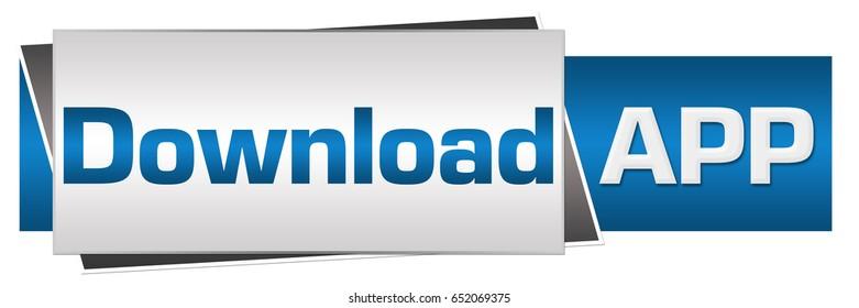 Download App Blue Grey Horizontal