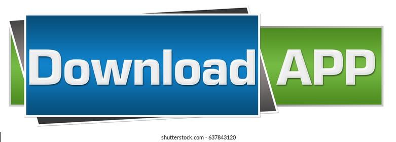 Download App Green Blue Horizontal