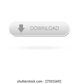 Download button user interface.  download button. Vector button on isolated background